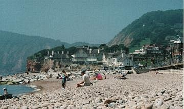 Sidmouthの海岸